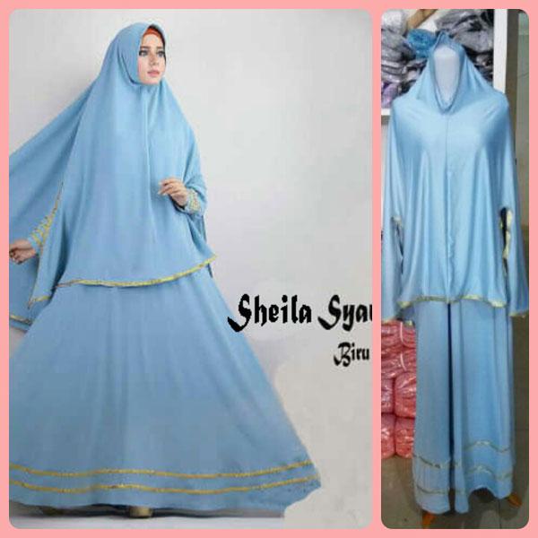 Gamis Terbaru Islami Sheila Biru