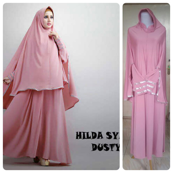 Gamis Terbaru Islami Hilda Dusty Pink