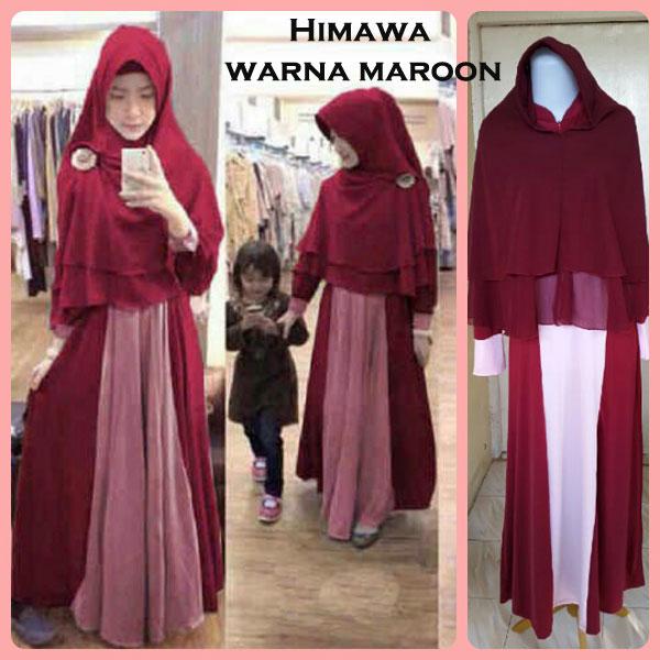 Gamis Terbaru Islami Himawa Maroon