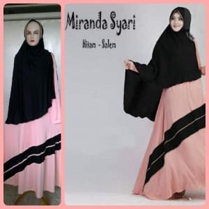 Gamis Terbaru Islami Miranda Hitam Salem
