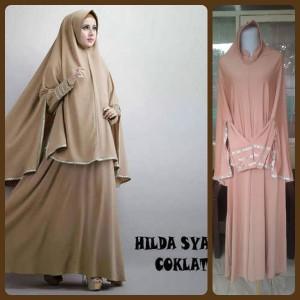Gamis Terbaru Islami Hilda Coklat