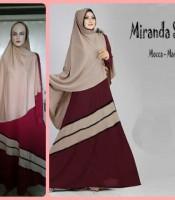 Gamis Terbaru Islami Miranda Mocca Maroon