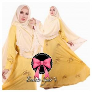 Gamis Terbaru Islami Enisa Kuning