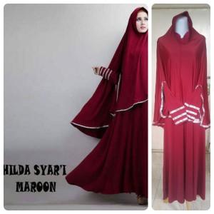 Gamis Terbaru Islami Hilda Maroon