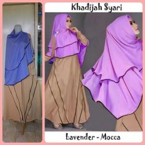 Gamis Terbaru Islami Khadijah Lavender Mocca