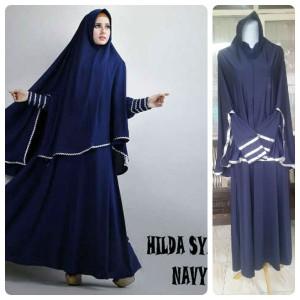 Gamis Terbaru Islami Hilda Navy