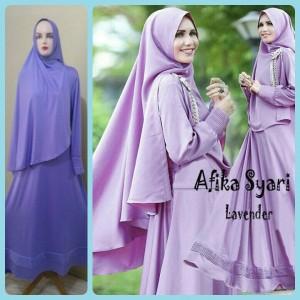 Gamis Terbaru Islami Afika Lavender