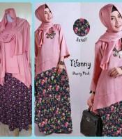 Gamis Terbaru Islami Tifanny Dusty Pink