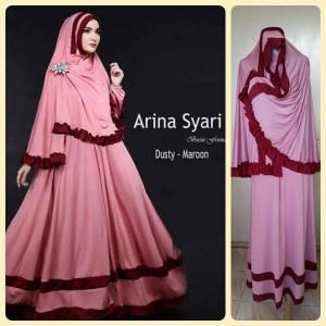 Gamis Terbaru Islami Arina Dusty Maroon