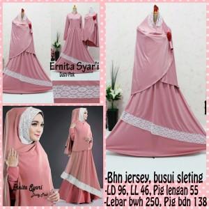 Gamis Terbaru Islami Ernita Dusty Pink