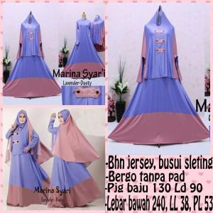 Gamis Islami Marina Lavender Dusty