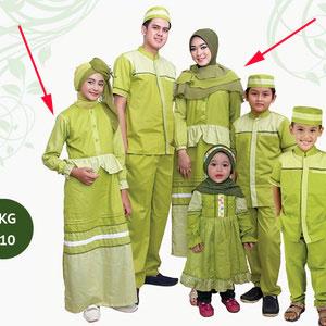 Baju Gamis Anak & Bunda Warna Hijau SKG-010