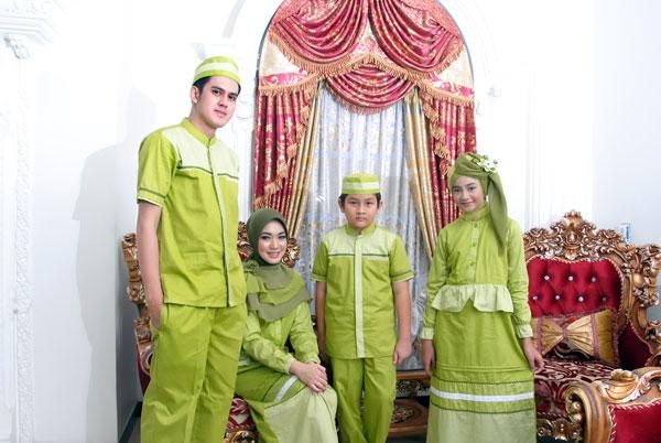 Baju Gamis Anak & Bunda Warna Hijau (SKG 010)