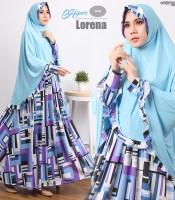 gamis terbaru islami lorena blue