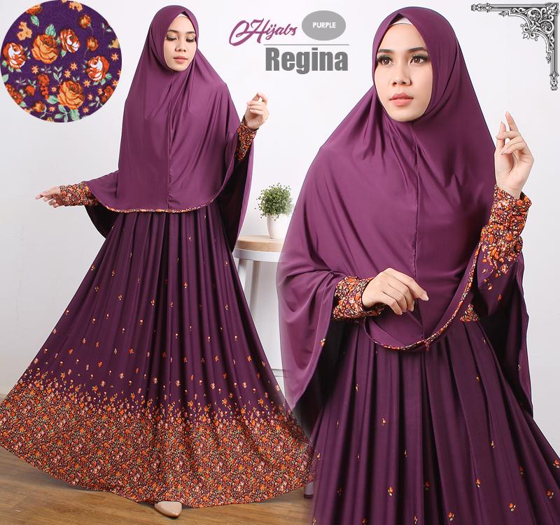 gamis terbaru islami regina purple