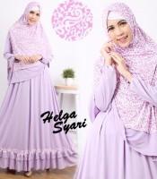 gamis terbaru islami helga lavender