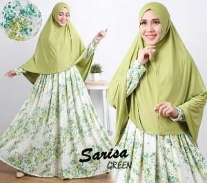 gamis terbaru islami sarisa green