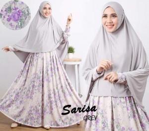 gamis terbaru islami sarisa grey