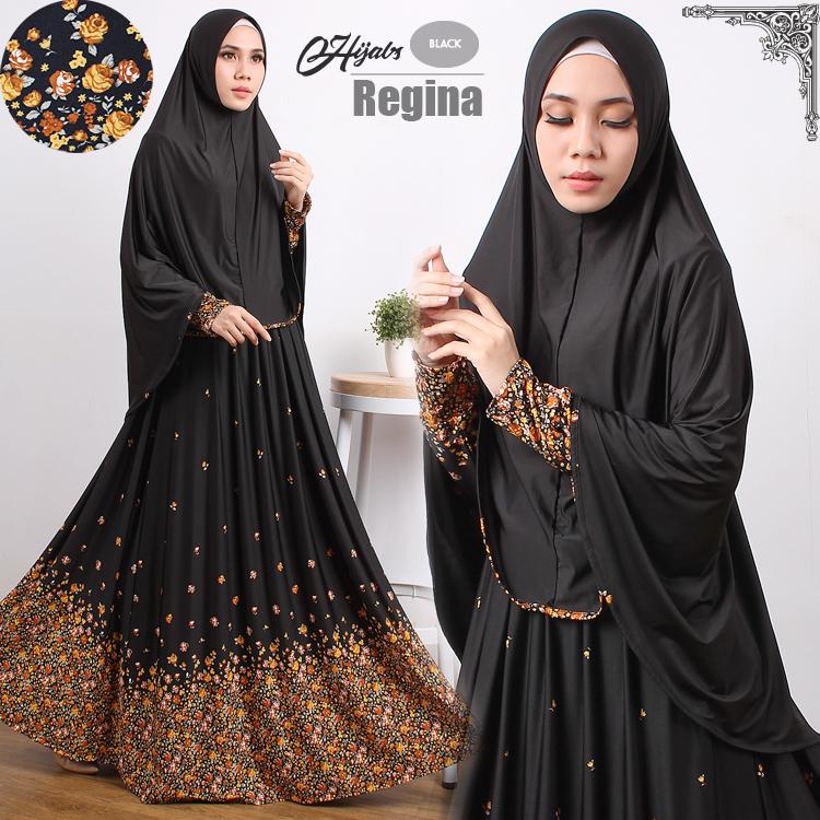 gamis terbaru islami regina black