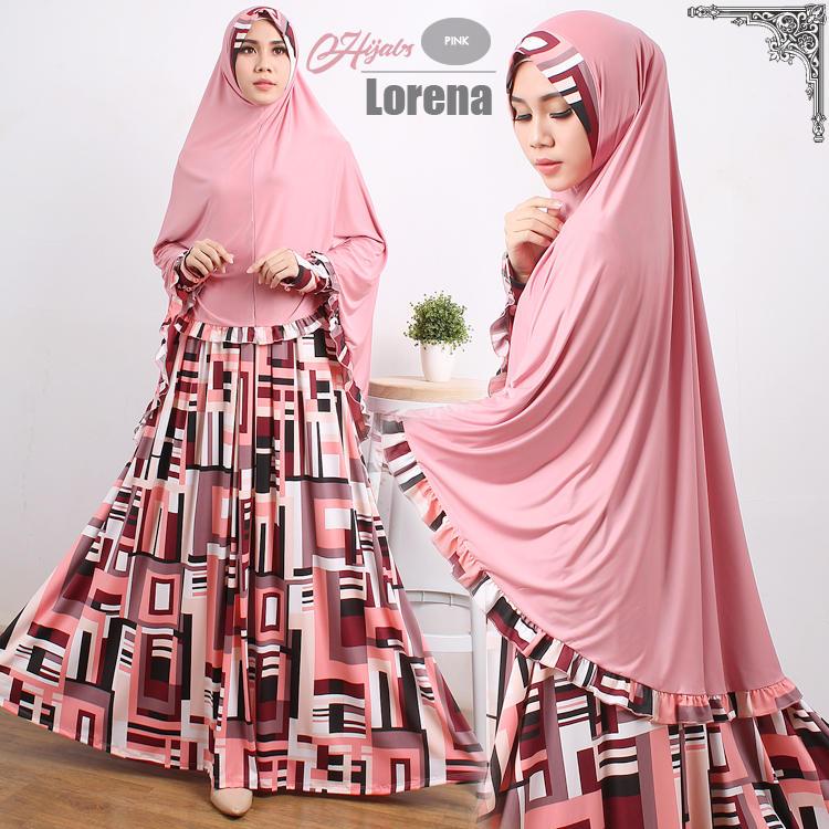 gamis terbaru islami lorena pink