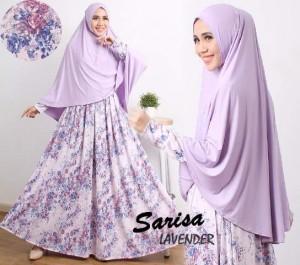 gamis terbaru islami sarisa lavender
