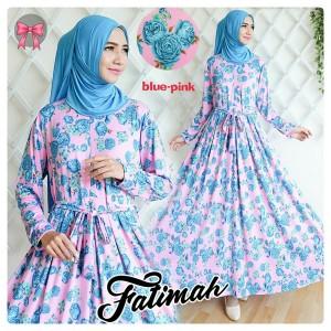 gamis fatimah blue pink
