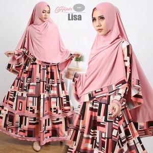 gamis-terbaru-islami-lisa-pink-dusty
