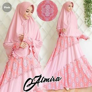 gamis terbaru islami almira pink
