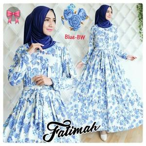 gamis fatimah blue bw