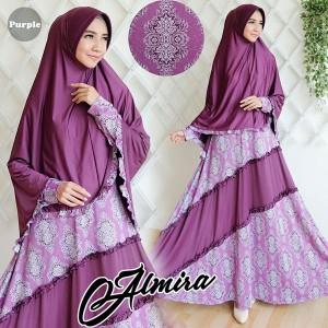gamis terbaru islami almira purple