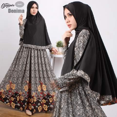 gamis-Terbaru-islami-denima-black