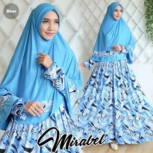 gamis terbaru islami mirabel biru