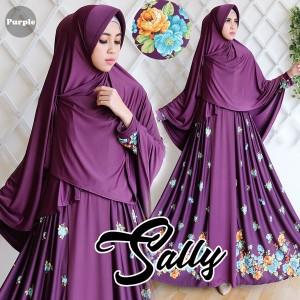 gamis sally purple