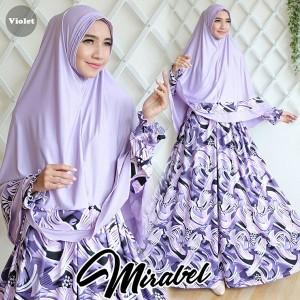 gamis terbaru islami mirabel lavender violet