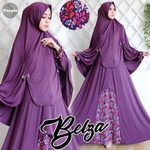 gamis belza purple