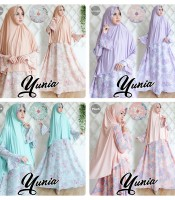 gamis yunia all varian warna