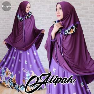 gamis islami alipah purple