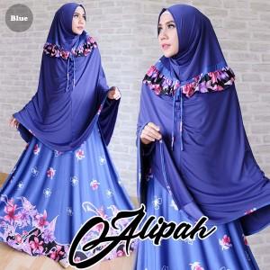 gamis islami alipah blue