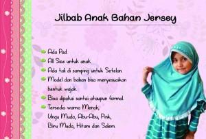 jilbab anak rempel bahan jersey biru muda