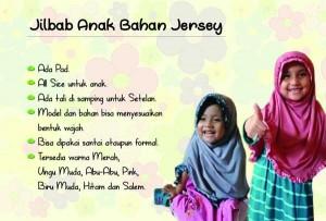 jilbab anak rempel bahan jersey abu dan pink