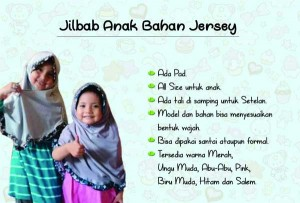jilbab anak rempel bahan jersey abu
