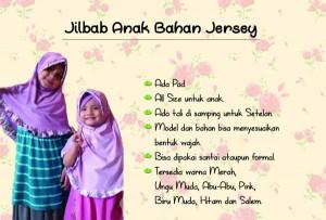 jilbab anak rempel bahan jersey ungu muda