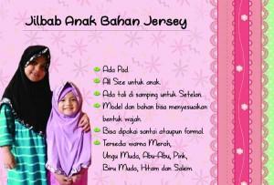 jilbab anak rempel bahan jersey hitam dan ungu