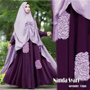 Gamis Islami Terbaru Nanda Lavender Ungu